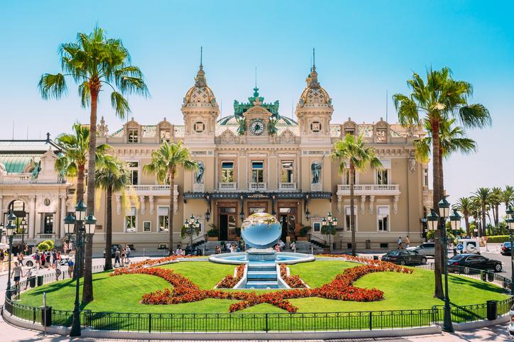 Monte Carlo, Monaco - June 28, 2015: Grand casino in Monte Carlo in Monaco. French Riviera