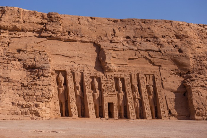 The temple of Hathor and Nefertari, also known as the Small Temple, Abu Simbel, Egypt