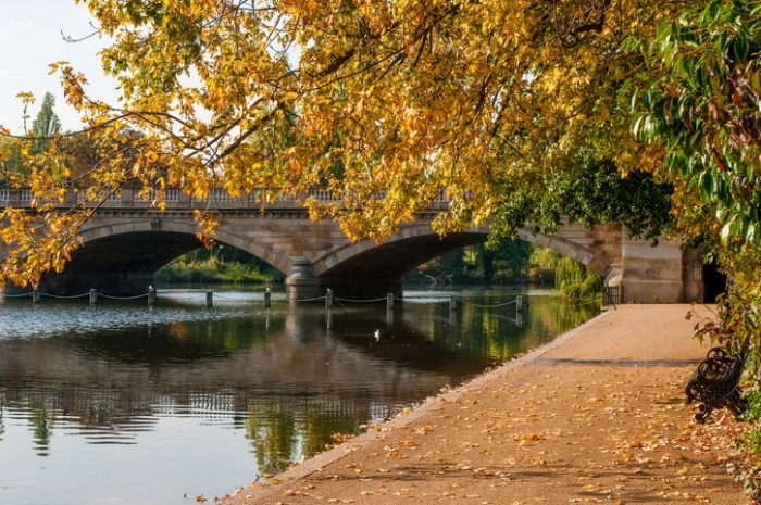 Serpentine bridge, Hyde Park, London, England, UK