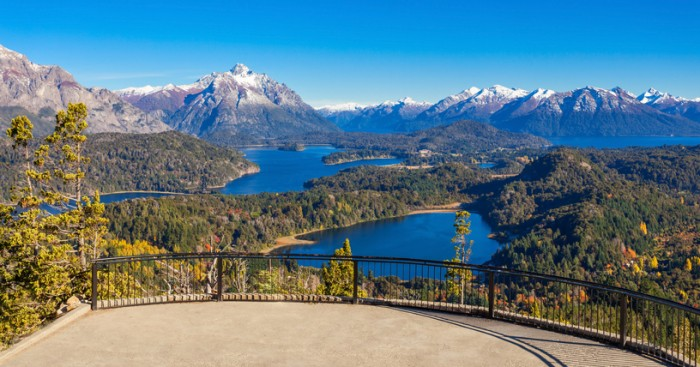 Cerro Campanario viewpoint near Bariloche in Nahuel Huapi National Park, Patagonia region in Argentina.