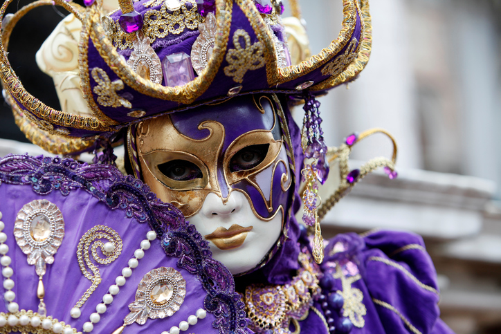 Purple and Gold Masquerader