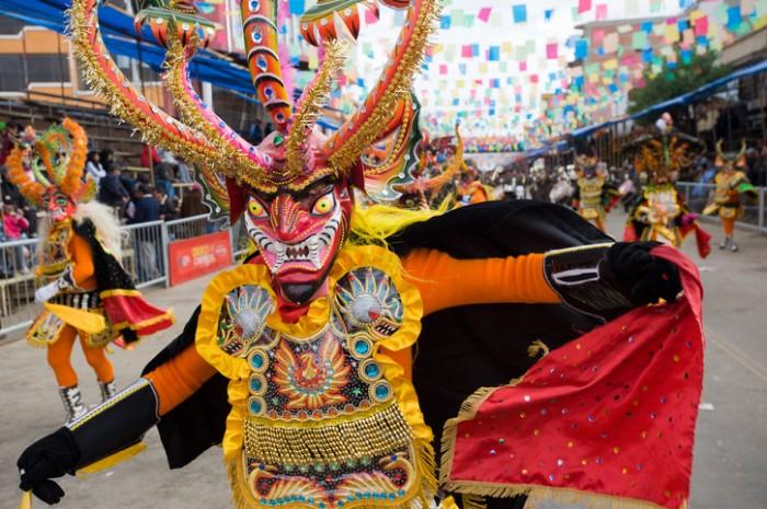 """""""Oruro, Bolivia - March 5, 2011: devil dancer at Oruro Carnival in Bolivia, declared UNESCO cultural world heritage."""""""