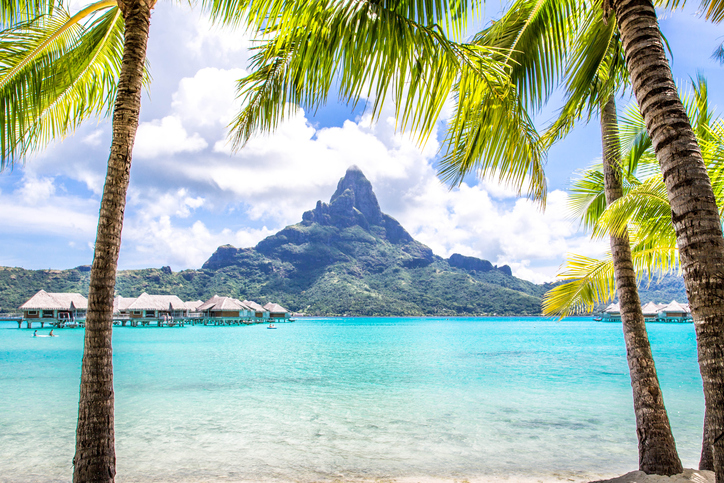 Vacation and many walks in the incredible waters of Tahiti, Moorea and Bora Bora in French Polynesia.