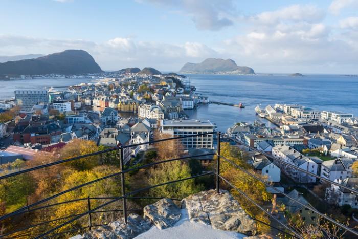 View of Alesund in Norway