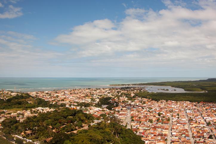 Aerial view of Porto Seguro - Bahia, Brasil.