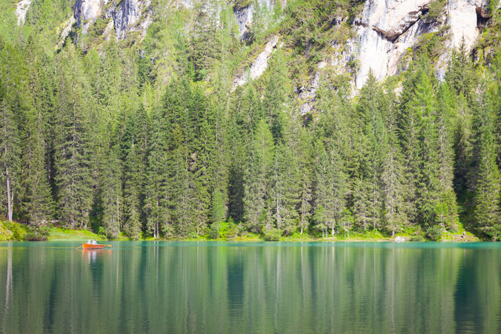 This amazing lake is located in the heart of Dolomiti mountains, UNESCO World Heritage - Italy