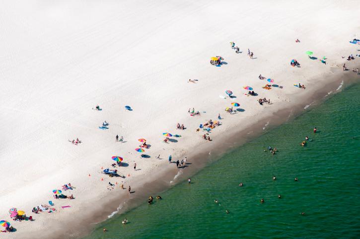 """""""Beach aerial view, Gulf Shores, Alabama, U. S."""""""
