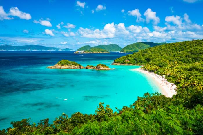 Trunk Bay, St John, United States Virgin Islands.