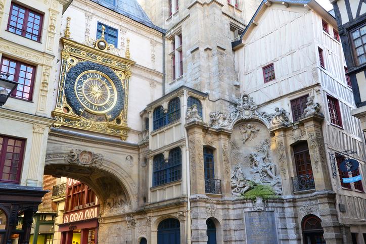 France, Gros Horloge of Rouen in Normandie