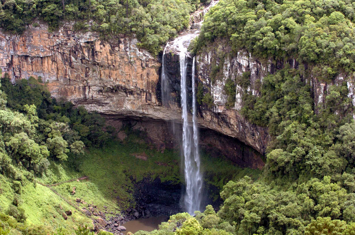 Brazil, Canela- offers a beautiful natural setting with breathtaking waterfalls, parks, canyons and natural reserves. The most famous is the Parque Estadual do Caracol, where there is a beautiful waterfall of 131 meters of Caracol. Southern Brazil.