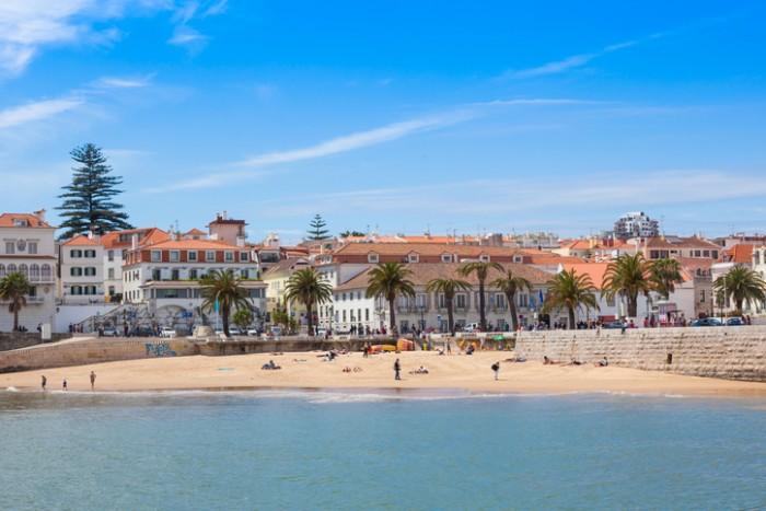 Cascais beach near Lisbon in Portugal
