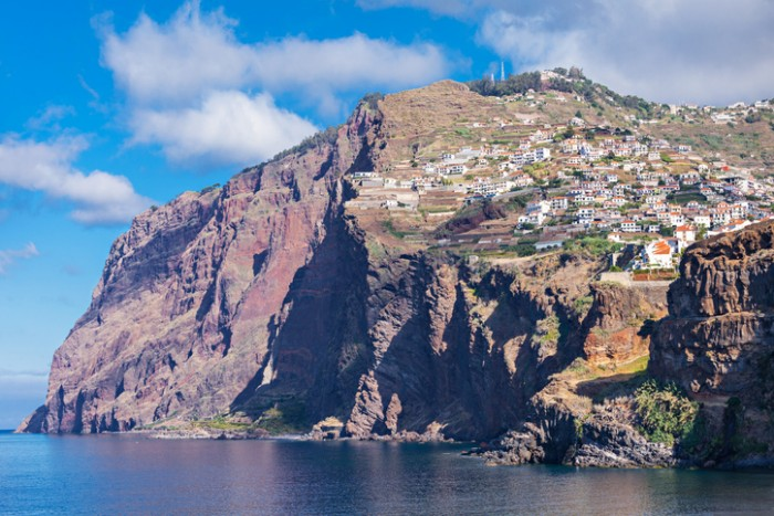 Cabo Girao is a cliff located along the southern coast of the island of Madeira, Portugal