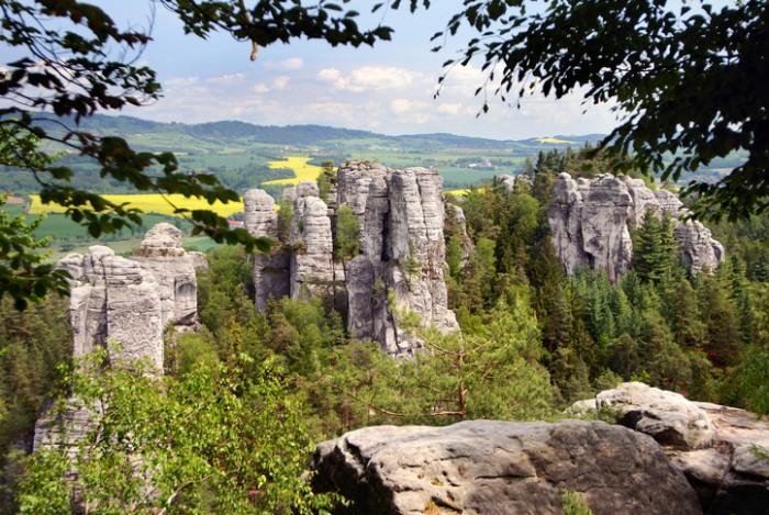 view from cesky raj - czech or bohemian paradise - bohemia - czech republic