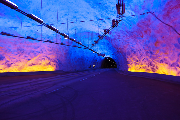 Laerdal Tunnel in Norway - the longest road tunnel in the world