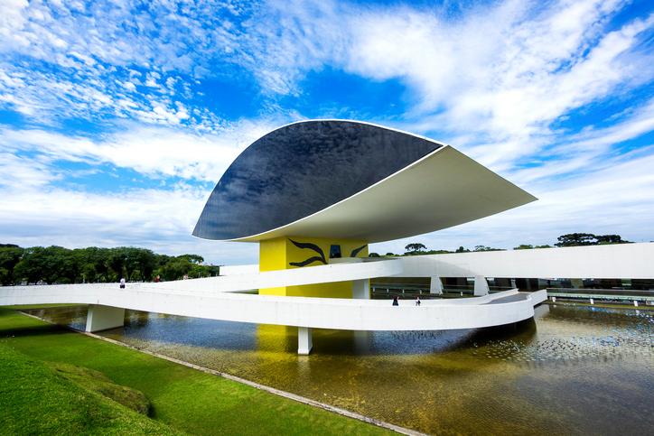 Curitiba, Brazil - December 14, 2015: Oscar Niemeyer Museum (aka MON) in Curitiba, Parana, Brazil.