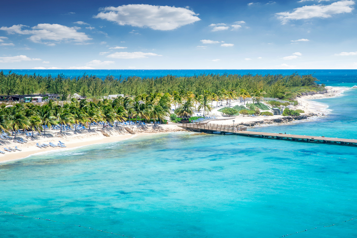 Aerial view of Grand Turk island