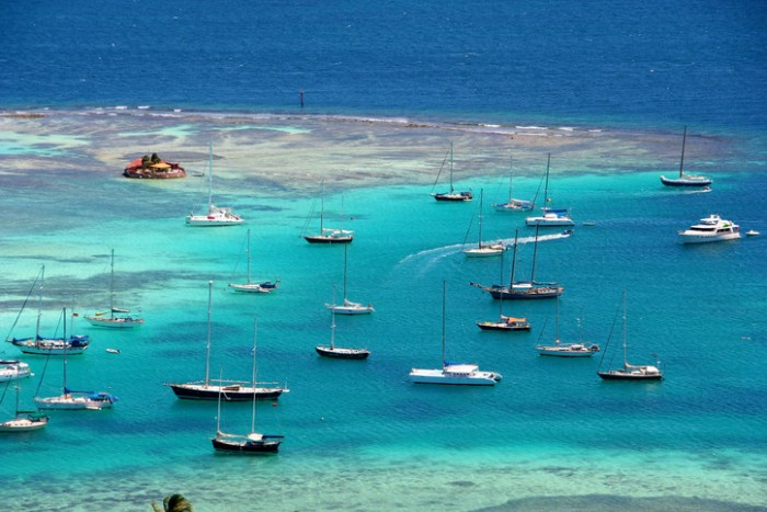 Sailing around the amazing island of Union Island, St. Vincent and the Grenadines in the Caribbean
