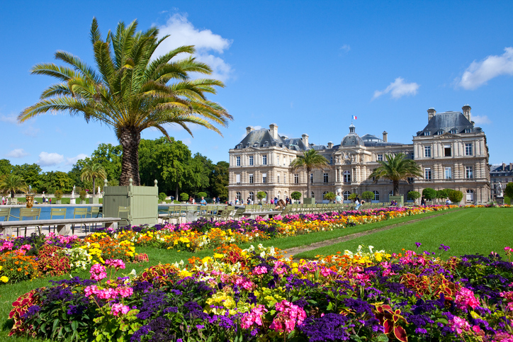 Paris, France - August 11, 2014: The magnificent Palais du Luxembourg in Paris on the 11th August 2014.
