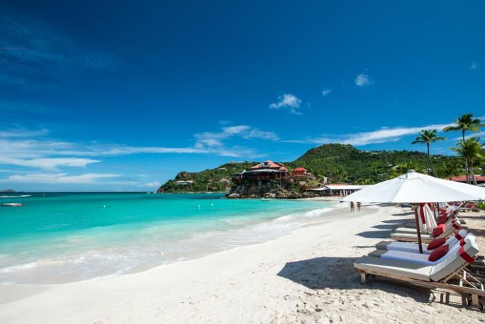 French island in a Caribbean sea