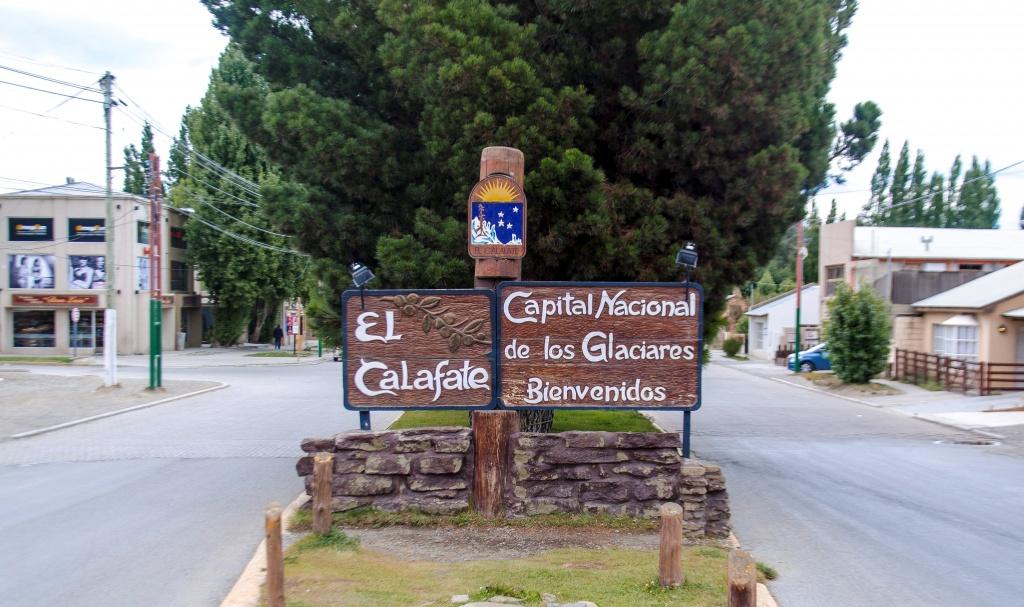 Entrada da Cidade de El Calafate na Patagônia Argentina.