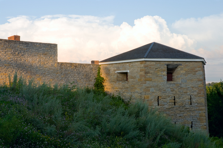 South Battery or Hexagonal Tower at historic Fort Snelling in Saint Paul Minnesota
