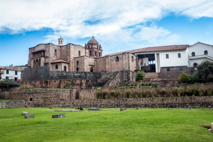 The Temple of the Sun monument, Iglesia Santo Domingo church and El Temple del Coricancha