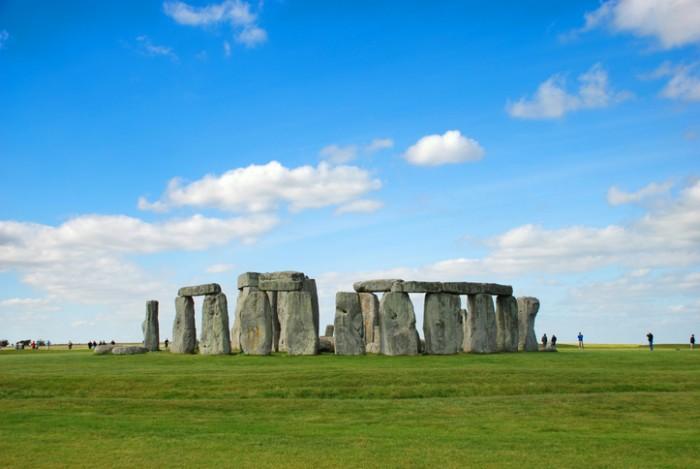 Stonehenge with Blue Sky on Sunny Day