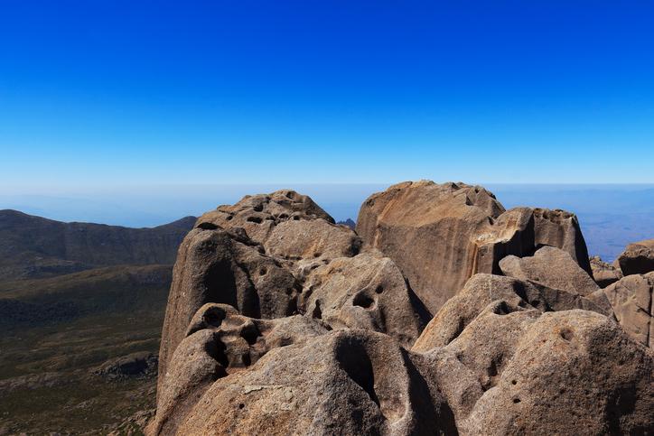 Peak Agulhas Negras (black needles) mountain,  Itatiaia National Park, Minas Gerais, Rio de Janeiro, Brazil