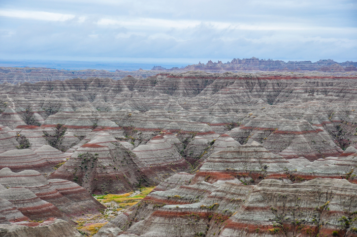 The rock formations of Badlands National Park are impressive and very old