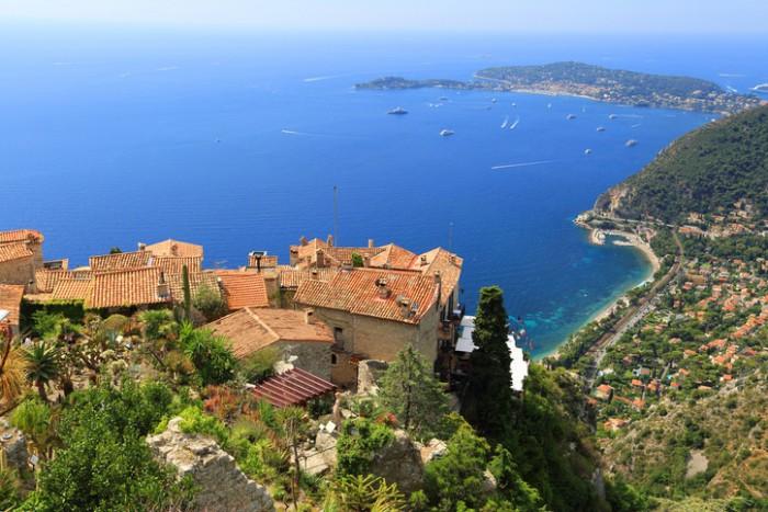 Eze village and Mediterranean Sea,  French Riviera