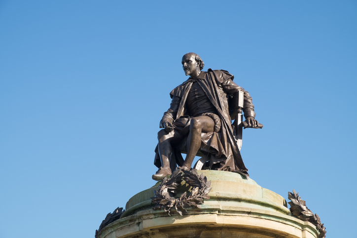 Gower Monument, the 19th-century memorial to William Shakespeare in his hom town of Stratford-upon-Avon, England.