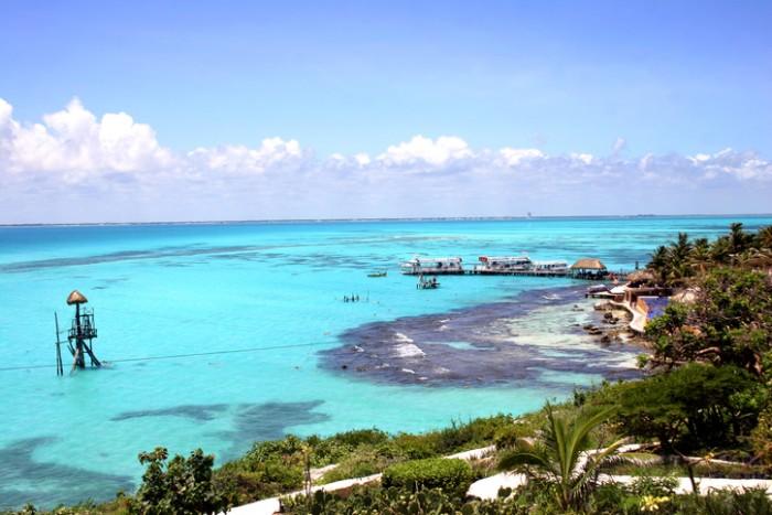 Isla Mujeres off the Yucatan coastin Mexico