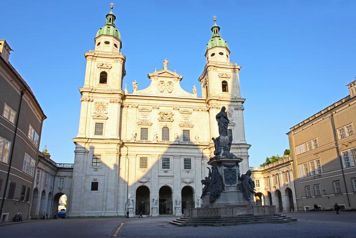 Salzburg Baroque Dom Cathedral in Austria