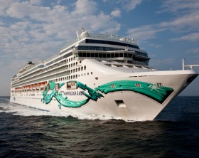 Aerial Norwegian Jade off Cannes - Mediterranean Sea Norwegian Jade - Norwegian Cruise Line