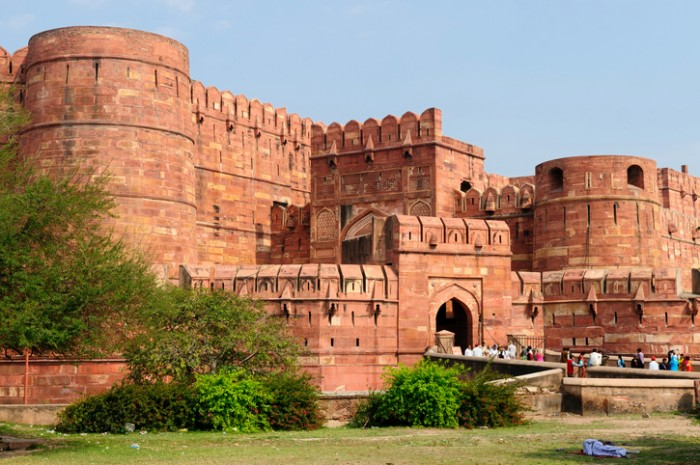 Beautifoul Agra Fort in Agra city in India. Uttar Pradesh