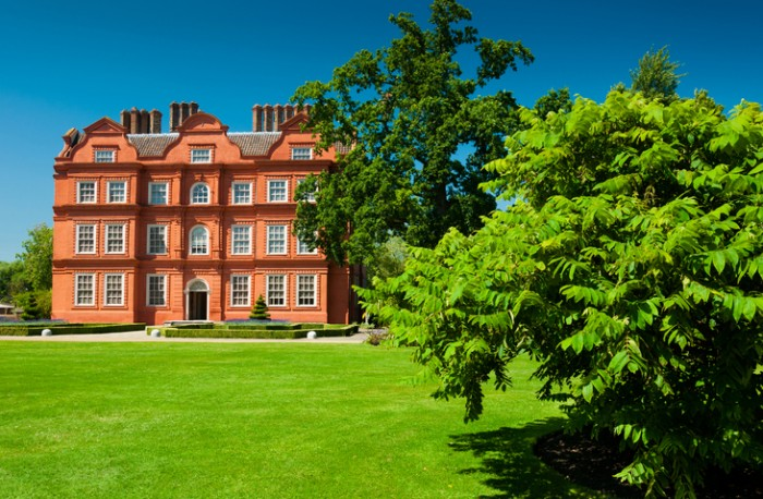 Front view of Kew palace in Kew gardens