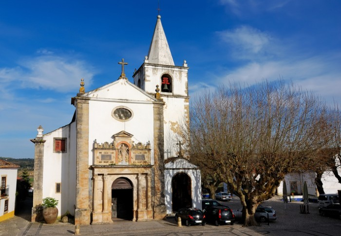 The Church of Santa Maria in Obidos, Portugal, built in XV century