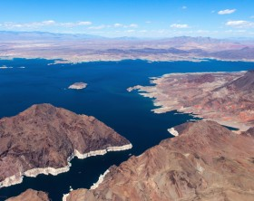 aerial view of Lake Mead, near the Hoover dam, colorado grand canyon, arizona, usa