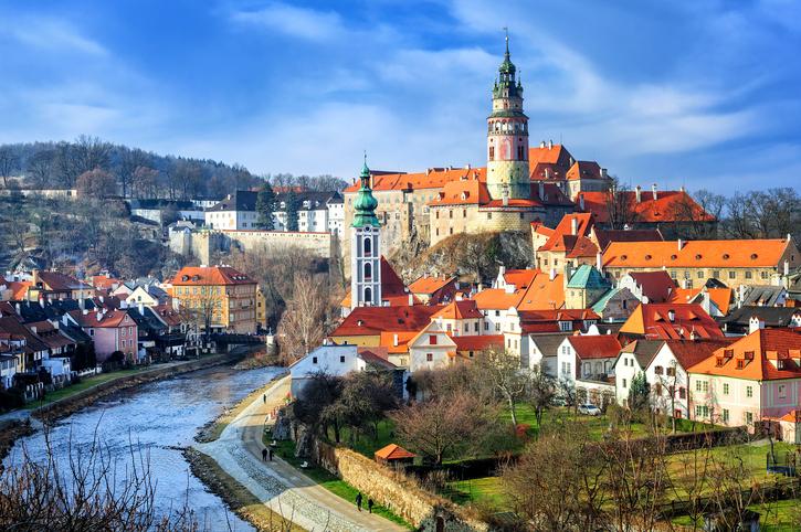 Old town of Cesky Krumlov, Czech Republic, UNESCO World Culture Heritage site