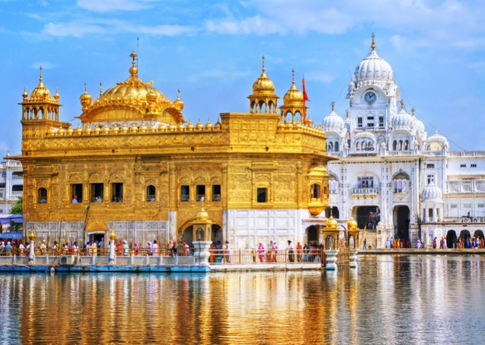 Golden Temple, the main sanctuary of Sikhs, Amritsar, Punjab,  India