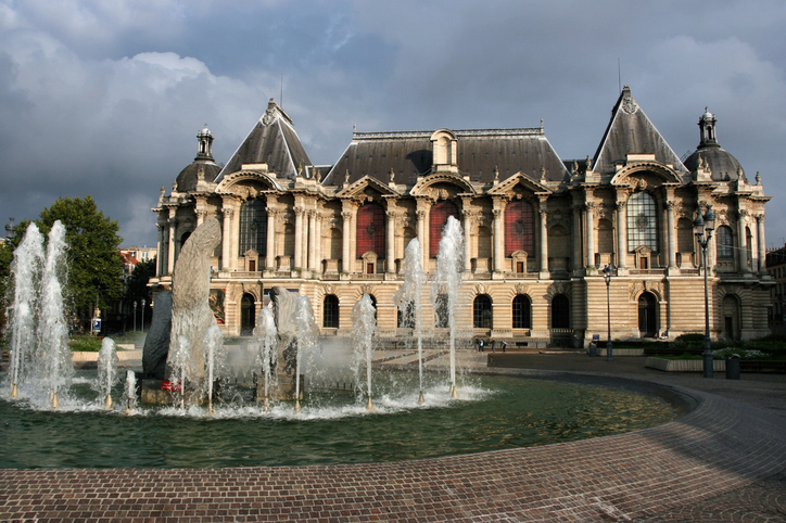 Museum of the Fine Arts in Lille, France. Old palace.