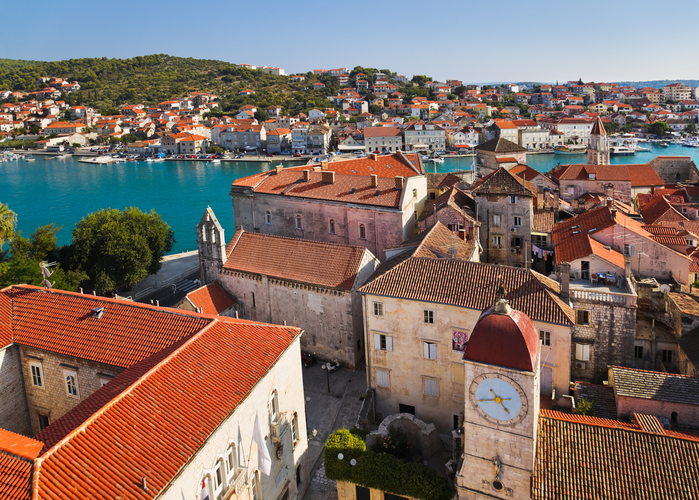 Town Trogir in Croatia - architecture background