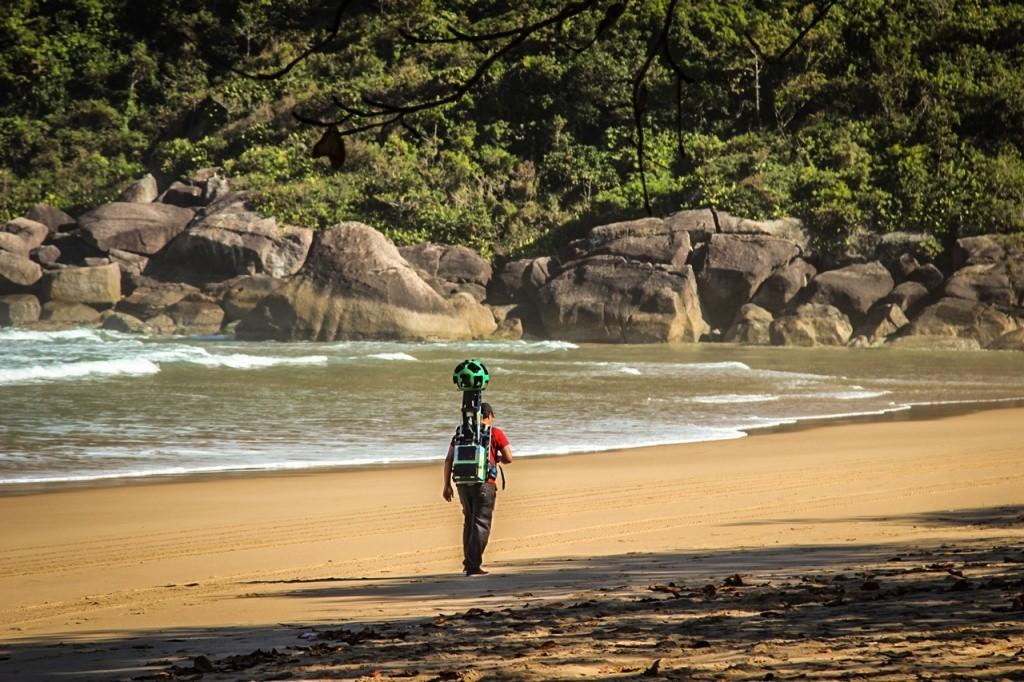 google-trekker-ilhabela-praia-do-bonete-coleta-2