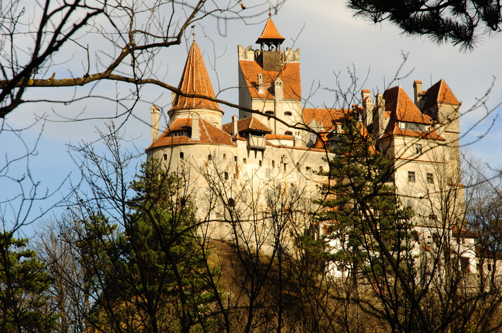 Original Dracula's Bran Castle in the light of sunset, RAW converted file with Nikon NX, no filters or other modifications !