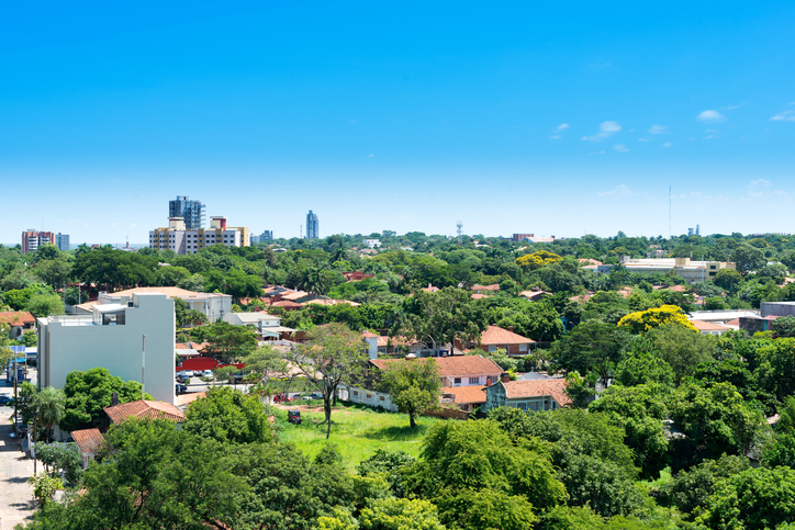View of a residential neighborhood at Asuncion, Paraguay