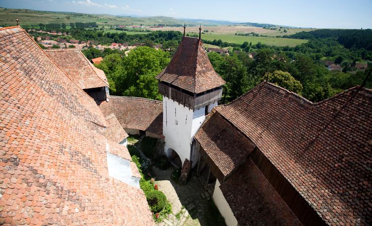 Fortified church of Viscri, UNESCO heritage site, saxon german landmark, Transylvania, Romania