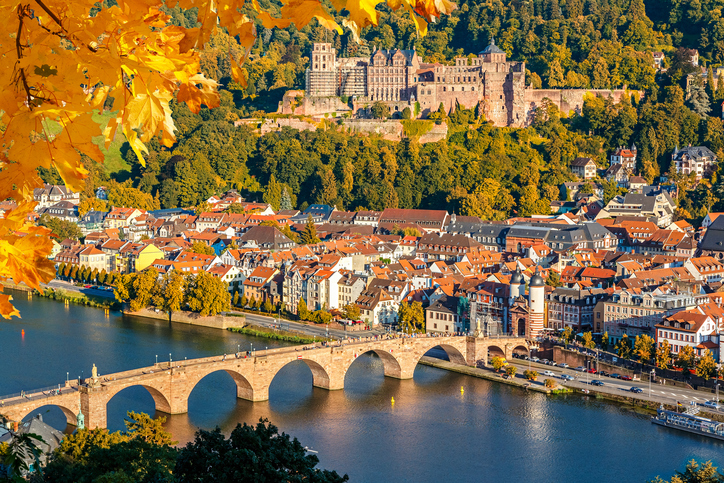 View on Heidelberg at autumn, Germany