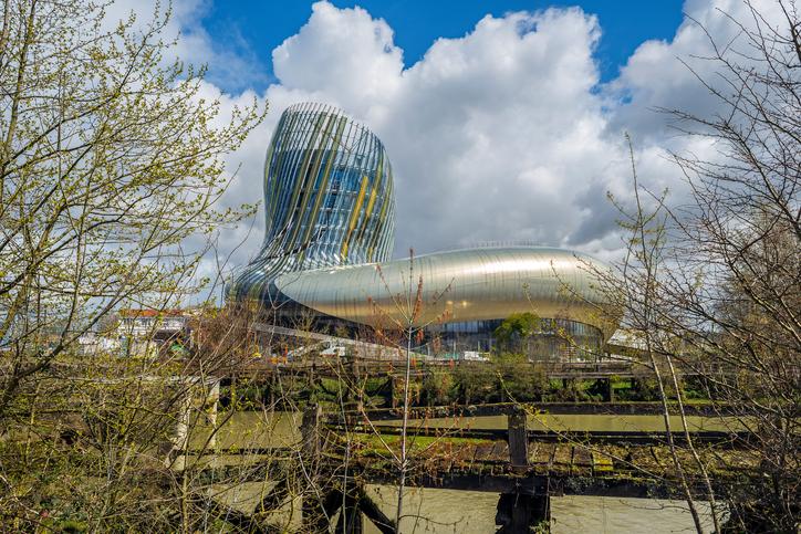 Bordeaux, France - March 27, 2016. La cite du vin is the Wine museum of Bordeaux near to Garonne river. Bordeaux, Aquitaine.