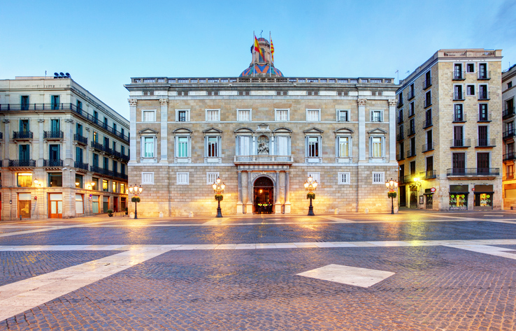 Generalitat of Catalonia Palace in Barcelona, Sant Jaume square
