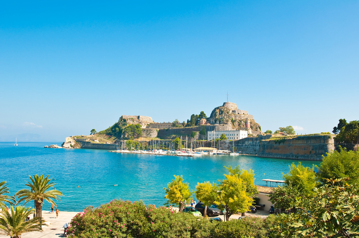 Corfu is the second largest of the Ionian Islands, including its small satellite islands, Greece.